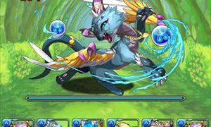 【パズドラ】「水の猫龍」高速周回テンプレパーティ