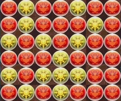 【パズドラ】最大火力配置「7×6盤面」【2色陣用】