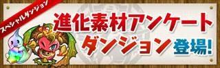 【パズドラ】「進化素材アンケートダンジョン」高速周回テンプレパーティ
